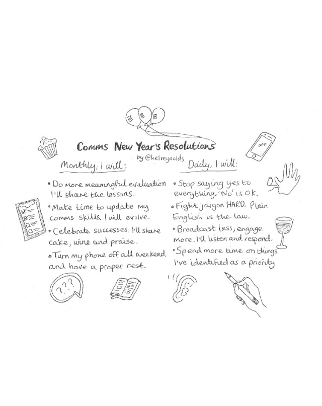 comms new years resolutions corporate comms culture cartoons